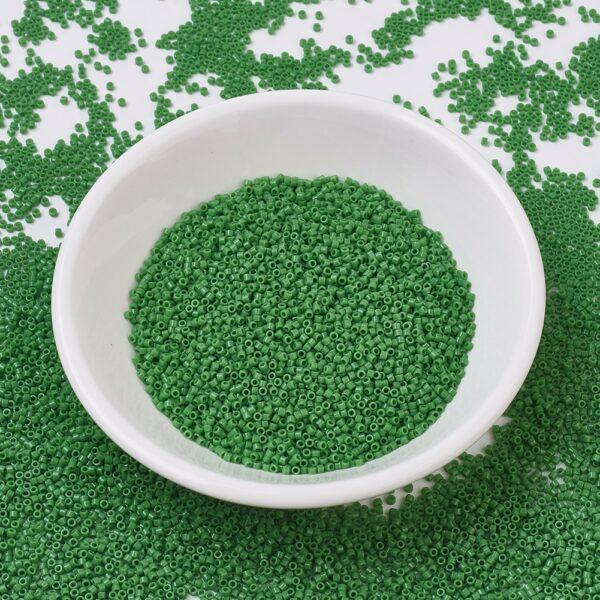 04b5f30467f19e40367d98ac165adb1e 1 MIYUKI DB0724 Delica Beads 11/0 - Opaque Green, 50g/bag