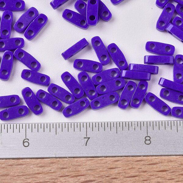 07cfa8dfd6759b93207b9aa4d192dc9a 1 MIYUKI QTL414 Quarter TILA Beads - Opaque Cobalt Seed Beads, 10g/bag