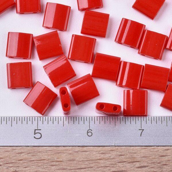 12bd93fdcacf15e9b506c20240a28f7b MIYUKI TL408 TILA Beads - Opaque Red Seed Beads, 10g/bag