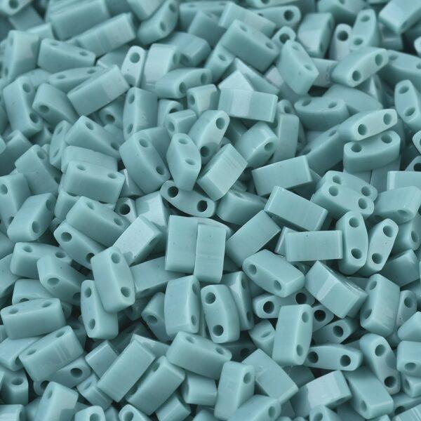 14d5d7462e7850858b4b7986ddba6d75 MIYUKI HTL412 Half TILA Beads - Opaque Turquoise Green Seed Beads, 50g/bag
