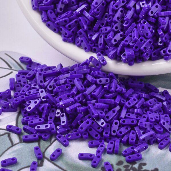 1f7144e4c0deaa94b0bfddc7fc453a42 1 MIYUKI QTL414 Quarter TILA Beads - Opaque Cobalt Seed Beads, 10g/bag