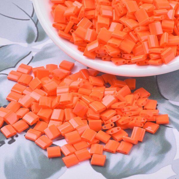 273ccd8489f299d4a2304d92a8bde5f8 1 MIYUKI TL406 TILA Beads - Opaque Orange Seed Beads, 10g/bag