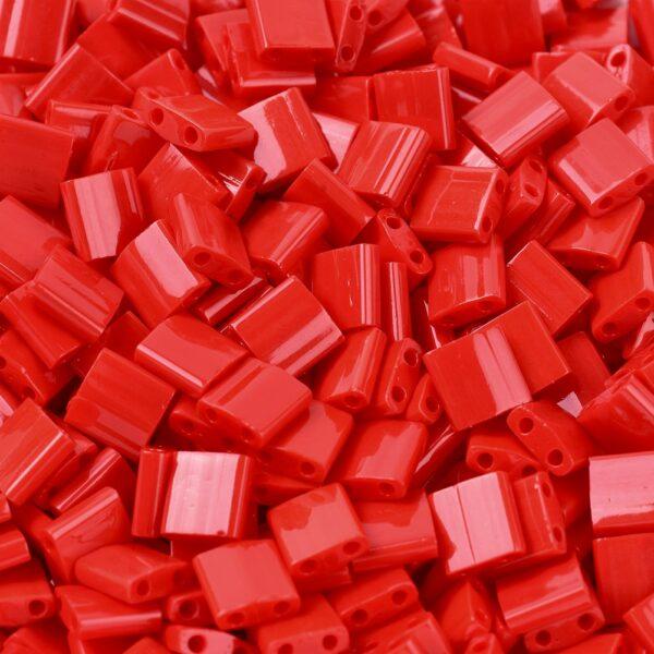 30dd05694778ee27c0f9301edf70e55f MIYUKI TL408 TILA Beads - Opaque Red Seed Beads, 50g/bag