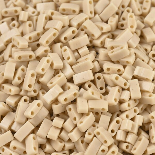 3fb6f6ae414ab26800e6d90572e6aee1 MIYUKI HTL493 Half TILA Beads - Opaque Pear Seed Beads, 50g/bag