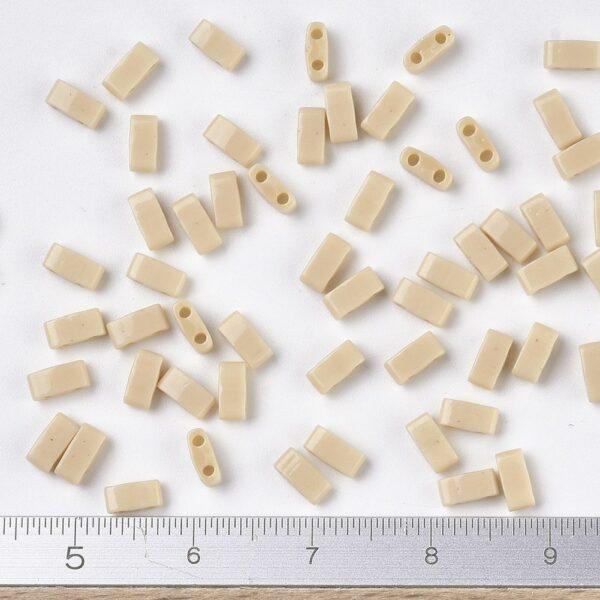 46e1986a22442ef753abee0583641627 MIYUKI HTL493 Half TILA Beads - Opaque Pear Seed Beads, 10g/bag