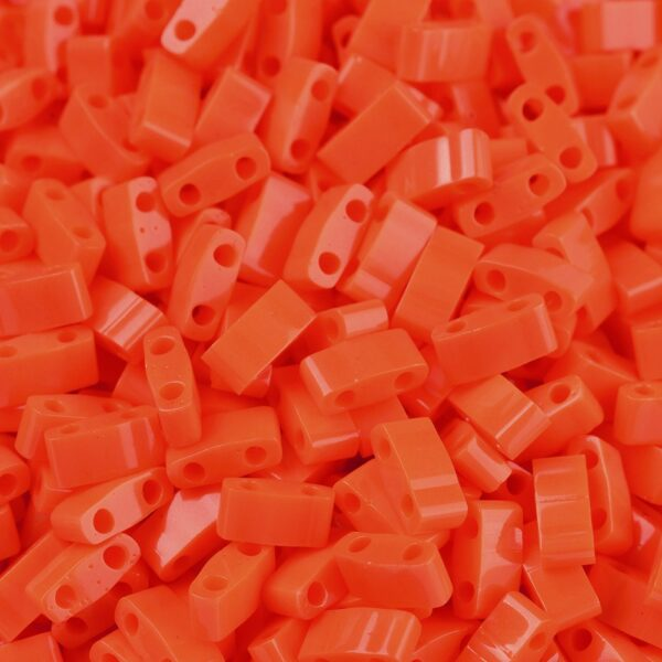 4f5901bf8c9043ef95601ce2cc35921e MIYUKI HTL406 Half TILA Beads - Opaque Orange Seed Beads, 50g/bag