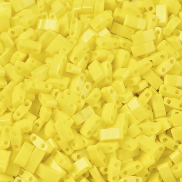 5794e9338619de728af839bbe9ef9e04 MIYUKI HTL404 Half TILA Beads - Opaque Yellow Seed Beads, 50g/bag
