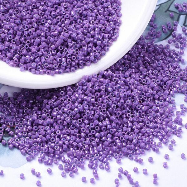 5c7a8e7c5ffd3793abfdd78309f86e78 2 MIYUKI DB0660 Delica Beads 11/0 - Dyed Opaque Dark Orchid, 10g/bag