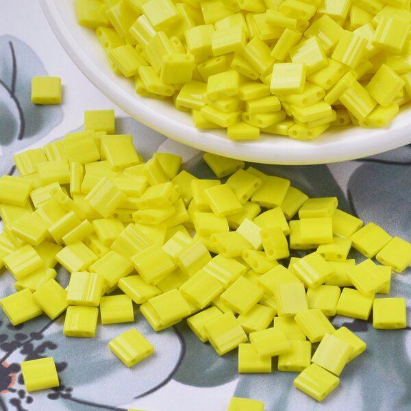 69345ee929d236537bf3bb6da2570e60 MIYUKI TL404 TILA Beads - Opaque Yellow Seed Beads, 50g/bag