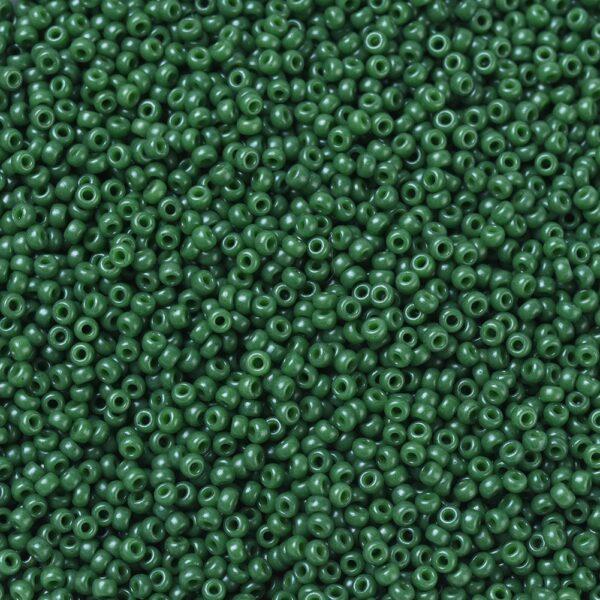 693d0011aa21a009a4f97c93d26d4553 1 MIYUKI 11-2048 Round Rocailles Beads 11/0, RR2048 Opaque Dyed Hunter Green, 10g/bag