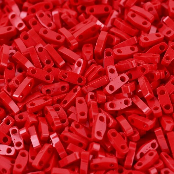 6d603abc3e3095c626d97210df979028 MIYUKI QTL408 Quarter TILA Beads - Opaque Red Seed Beads, 50g/bag