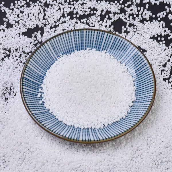 6f10abdb6303785c8cad185f54ba3ca5 MIYUKI DBS0200 Delica Beads 15/0 - Opaque White, 50g/bag