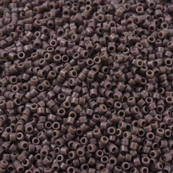 71a01b32ec151d802c756f11d50547f2 MIYUKI DB0735 Delica Beads 11/0 - Opaque Dark Mauve, 10g/bag