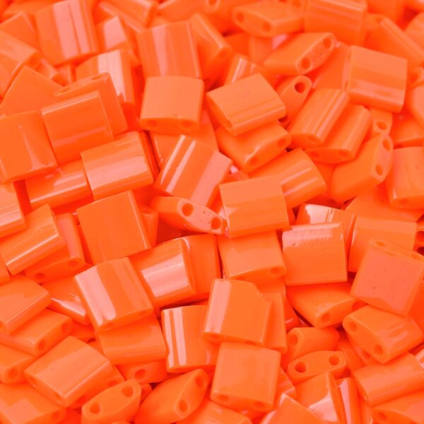 740516962e09fdb0d39270dabbfb5458 MIYUKI TL406 TILA Beads - Opaque Orange Seed Beads, 10g/bag