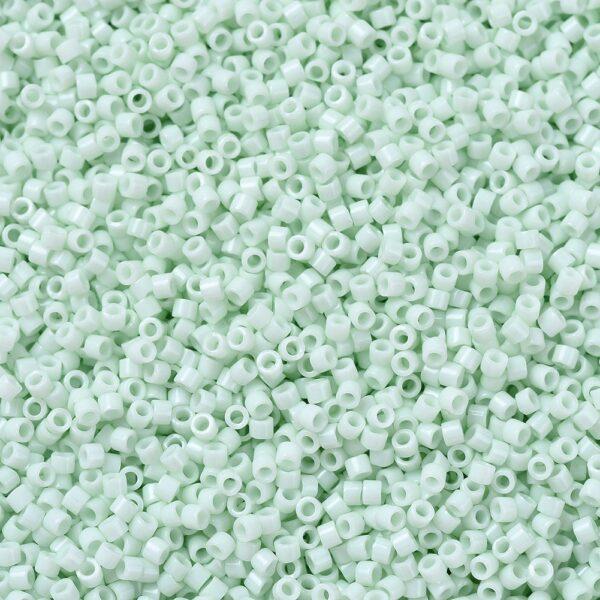 77a3e9fc99e707e780495ca23b2306b3 1 MIYUKI DB1496 Delica Beads 11/0 - Opaque Light Mint, 10g/bag