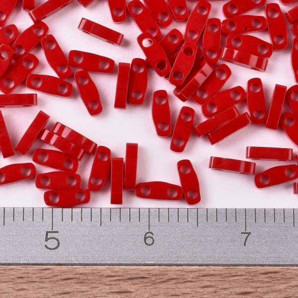 787c6272597801c27c55e909d0f2dc2f MIYUKI QTL408 Quarter TILA Beads - Opaque Red Seed Beads, 10g/bag