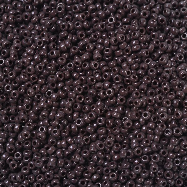 7914281a4a6cf604b863319c12d7e194 MIYUKI 11-409 Round Rocailles Beads 11/0, RR409 Opaque Chocolate, 50g/bag