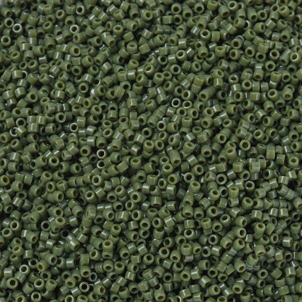 79d8ee61852ff599375ff33b444c05e8 MIYUKI DB1135 Delica Beads 11/0 - Opaque Avocado, 50g/bag