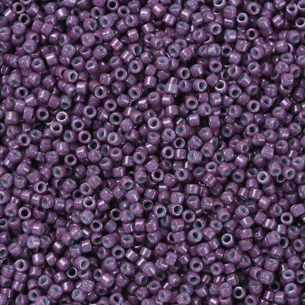 7f46adb3114716fc644e7a6b74210402 MIYUKI DB0662 Delica Beads 11/0 - Opaque Light Blue lined Plum, 10g/bag