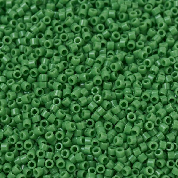 81c6e2570e1c09f479da7ed24f8a67f9 MIYUKI DBS0724 Delica Beads 15/0 - Opaque Green, 50g/bag