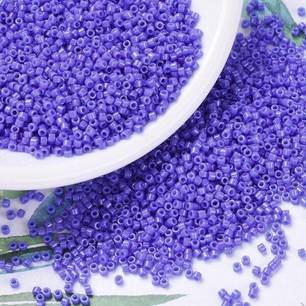 95d9e22c30fed6ae074748d53d09982e 2 MIYUKI DB0661 Delica Beads 11/0 - Dyed Opaque Bright Purple, 10g/bag