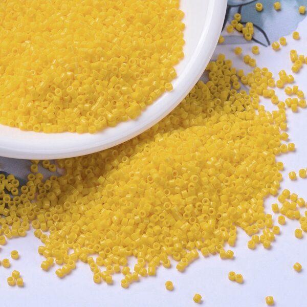 a09dbd472be78b9dbaf8478e62907969 2 MIYUKI DB1132 Delica Beads 11/0 - Opaque Canary, 10g/bag