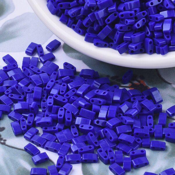 a9a24d54e7bfd7a11ece61e2f6835224 1 MIYUKI HTL414 Half TILA Beads - Opaque Cobalt Seed Beads, 10g/bag
