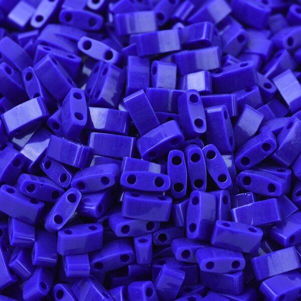c2797480c9cb240da91310673a0ebaac MIYUKI HTL414 Half TILA Beads - Opaque Cobalt Seed Beads, 50g/bag