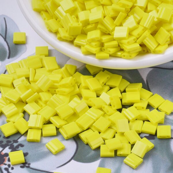 c4e93037c7abdeadf884fd5d7db85845 1 MIYUKI TL404 TILA Beads - Opaque Yellow Seed Beads, 10g/bag