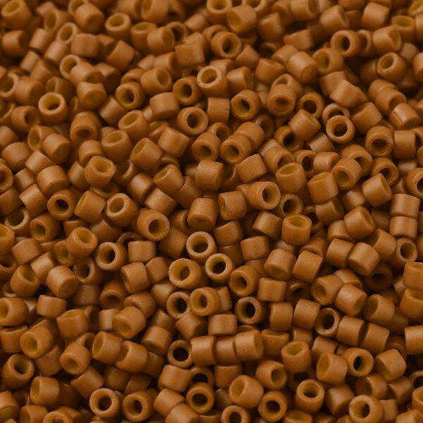 c9e0fd9a7be08200a5ee01b3a56d5f2b MIYUKI Delica Beads 11/0, (DB0653) Dyed Opaque Pumpkin, 1.3x1.6mm, Hole: 0.8mm; about 2000pcs/10g
