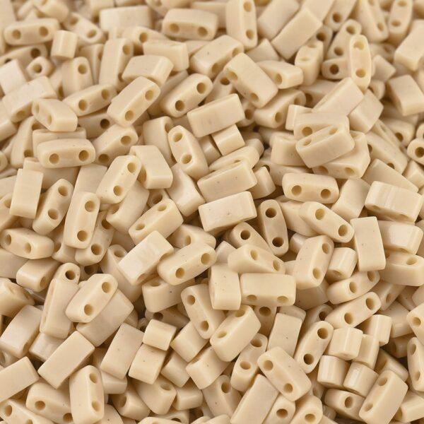 d8c795404917459227629a547b70b9e5 MIYUKI HTL493 Half TILA Beads - Opaque Pear Seed Beads, 10g/bag