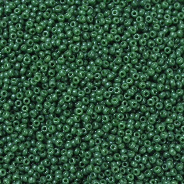 da9d7bc225512decec683af7fa4f91e2 MIYUKI 11-2048 Round Rocailles Beads 11/0, RR2048 Opaque Dyed Hunter Green, 50g/bag