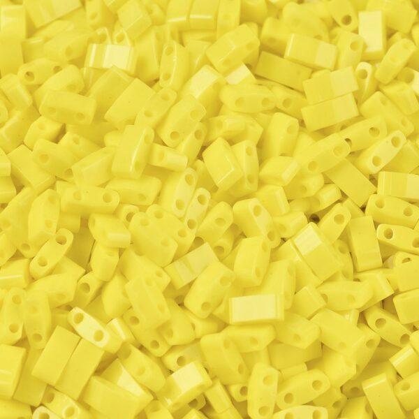 e1a2cc1710637b7b5d00b4f0c4788ab4 MIYUKI HTL404 Half TILA Beads - Opaque Yellow Seed Beads, 10g/bag