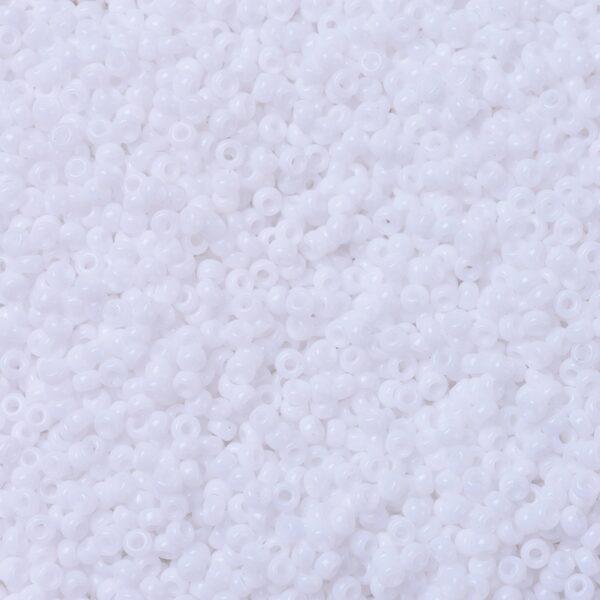 e1b759213fc5ed8135477a7d9aa8f67e MIYUKI 11-402 Round Rocailles Beads 11/0, RR402 Opaque White, 50g/bag