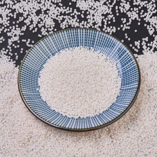 e3a00bb69ce02a81007abe359a1ad84c MIYUKI DB1490 Delica Beads 11/0 - Opaque White Glazed, 50g/bag