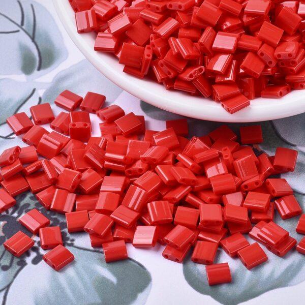 ea437cd2cfcbdb63575410e46c1d647f 2 MIYUKI TL408 TILA Beads - Opaque Red Seed Beads, 10g/bag