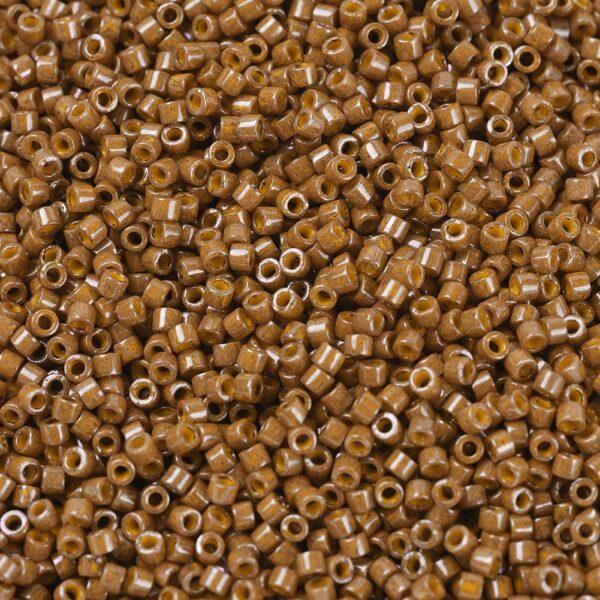 f4340a6920c6a96b24c836ea9e1ed248 MIYUKI DB0664 Delica Beads 11/0 - Dyed Opaque Dark Pumpkin, 10g/bag