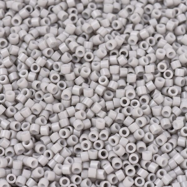 fa94617ff170db56d0dc158301fc090e MIYUKI DB1498 Delica Beads 11/0 - Opaque Light Smoke, 50g/bag