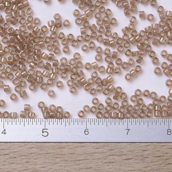 28e4eeac4a444b4ce8c1151734120f32 MIYUKI DB0102 Delica Beads 11/0 - Transparent Peach Topaz Gold Luster, 100g/bag