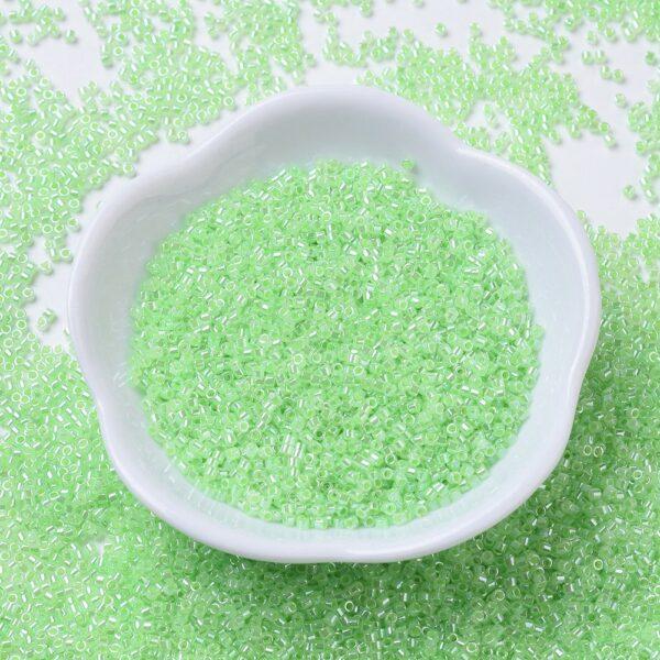 309d93e7dd17fad3290b169cdd1bc9bb MIYUKI DB0237 Delica Beads 11/0 - Mint Green Ceylon Alabaster, 100g/bag