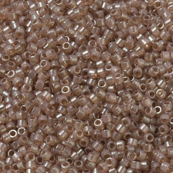 4790c6d2291ec626b2c54f885fbd0383 MIYUKI DB0102 Delica Beads 11/0 - Transparent Peach Topaz Gold Luster, 100g/bag