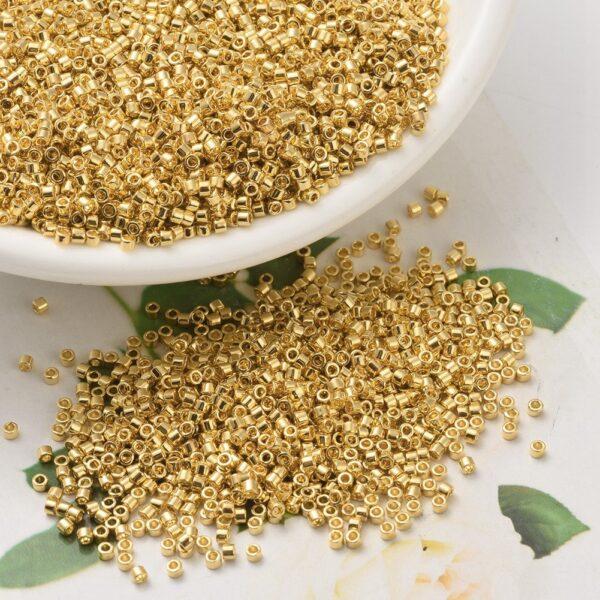 84db0ff0da1f846e10aa4250cea1d704 MIYUKI DB0031 Delica Beads 11/0 - Opaque Gold Plated, 100g/bag