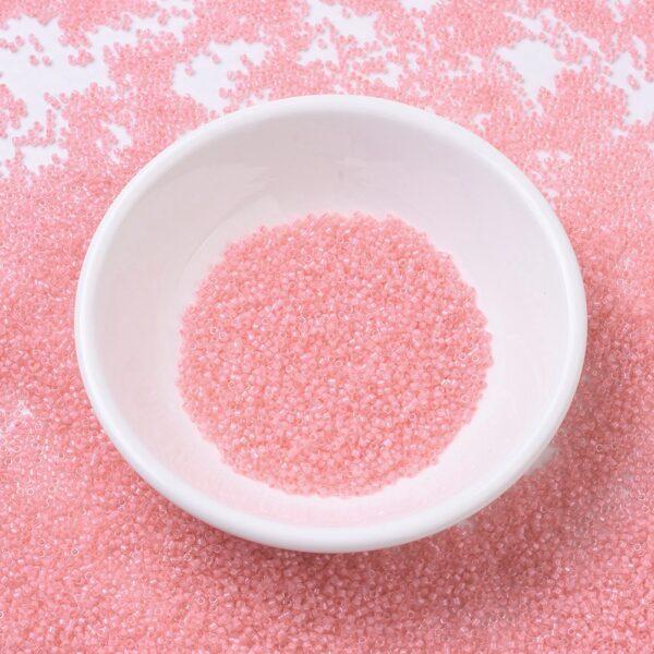 e06012f4d5bb599421297e0ac0b6432e MIYUKI DB0070 Delica Beads 11/0 - Transparent Rose Pink Lined, 100g/bag