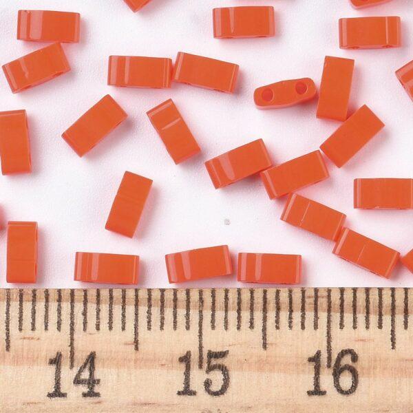 e5a2c889b18e755049b25f2167c510b7 MIYUKI HTL406 Half TILA Beads - Opaque Orange Seed Beads, 10g/bag