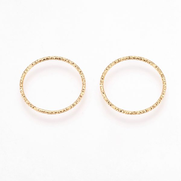 0d5da157de379f13166d9aed580a370e Real 18K Gold Plated Brass Soldered Linking Rings, Nickel Free, 18x1mm; Inner Diameter: 16mm, 10 pcs/ bag