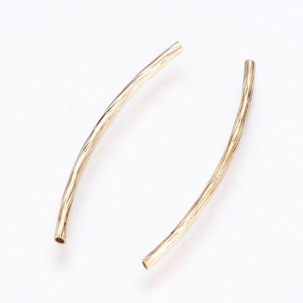 3a06a80c29302f869b5195bc3a257f40 Real 18K Gold Plated Brass Tube Beads, Nickel Free, 29x1mm, Hole: 1mm, 10 pcs/ bag