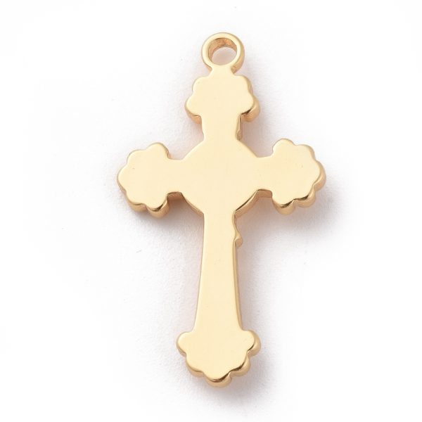 3ce0ca0ab7357c6b678a0431dd96deef Real 18K Gold Plated Brass Crucifix Cross Pendants, For Easter, Nickel Free, 30.5x17.5x3mm, Hole: 1.5mm, 1 pcs/ bag