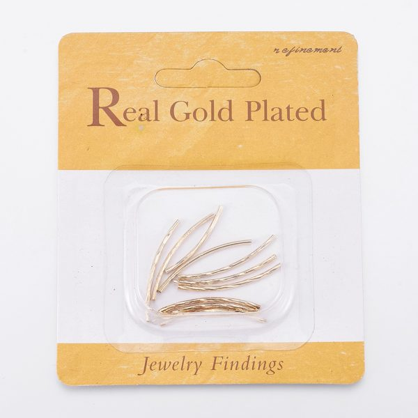 7608efe63d45f3f190758ec1ff8c3709 Real 18K Gold Plated Brass Tube Beads, Nickel Free