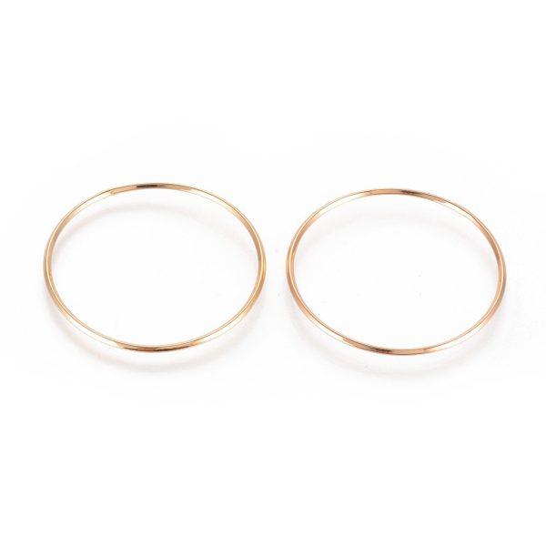 86c6cdcdcbf87e6a9737a0e30e73e54a Real 18K Gold Plated Brass Linking Rings, Nickel Free, 34.5x1.5mm, 5 pcs/ bag