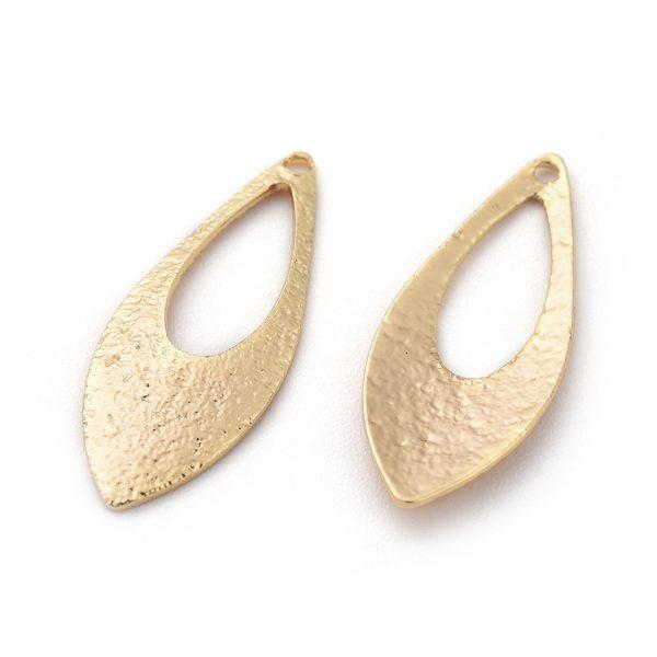 96e1d61c6b72ad8a0b4f005f436fa891 Real 18K Gold Plated Brass Horse Eye Pendants, Nickel Free, 18.5x7x1mm, Hole: 1mm, 10 pcs/ bag